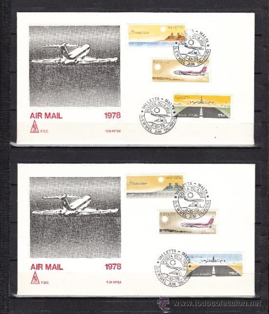 MALTA A 9/14 PRIMER DIA, AVION, TEMPLO, RELIGION, BOEING, (Sellos - Extranjero - Europa - Malta)