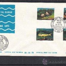 Sellos: MALTA 588/91 PRIMER DIA, FAUNA MARINA, . Lote 32861947