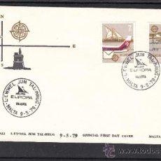 Sellos: MALTA 583/4 PRIMER DIA, TEMA EUROPA, DORREOS AYER Y HOY, . Lote 32861965