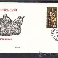 Sellos: MALTA 564/5 PRIMER DIA, TEMA EUROPA, MONUMENTOS GRANDES MAESTROS, NICOLAS COTONER Y RAMON PERELLOS. Lote 32862195