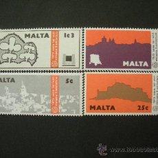 Sellos: MALTA 1975 IVERT 509/12 *** AÑO DEL PATRIMONIO ARQUITECTONICO EUROPEO . Lote 33391374