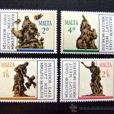 Sellos: MALTA YVERT Nº 358 - 361 ** ESCULTURAS DE MELCHIOR. Lote 35035464