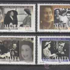 Sellos: MALTA 1249/52** - AÑO 2003 - 50º ANIVERSARIO DE LA CORONACIÓN DE LA REINA ISABEL II. Lote 38311841