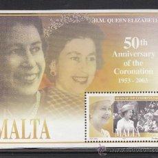 Sellos: MALTA HB 24** - AÑO 2003 - 50º ANIVERSARIO DE LA CORONACIÓN DE LA REINA ISABEL II. Lote 38311859