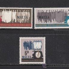 Sellos: MALTA 372/74** - AÑO 1968 - AÑO INTERNACIONAL DE LOS DERECHOS HUMANOS. Lote 38378204