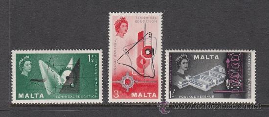 MALTA 259/61** - AÑO 1958 - ENSEÑANZA TECNICA (Sellos - Extranjero - Europa - Malta)