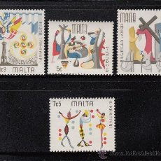 Sellos: MALTA 520/23** - AÑO 1976 - FOLKLORE MALTES. Lote 117090268