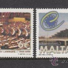 Sellos: MALTA 1037/38** - AÑO 1999 - 50º ANIVERSARIO DEL CONSEJO DE EUROPA. Lote 38469294