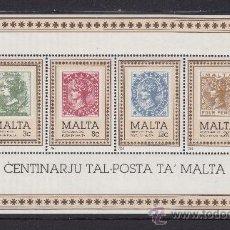 Sellos: MALTA HB 8** - AÑO 1985 - CENTENARIO DEL SELLO. Lote 38485599