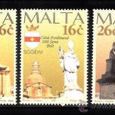 Sellos: MALTA 980/82** - AÑO 1997 - BICENTENARIO DE CIUDADES MALTESAS. Lote 38749011