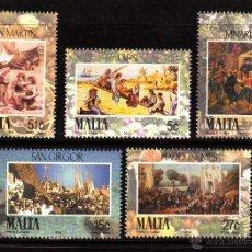 Sellos: MALTA 1323/27** - AÑO 2004 - FIESTA DE MALTA - ESCENAS DE ANTAÑO. Lote 40299105