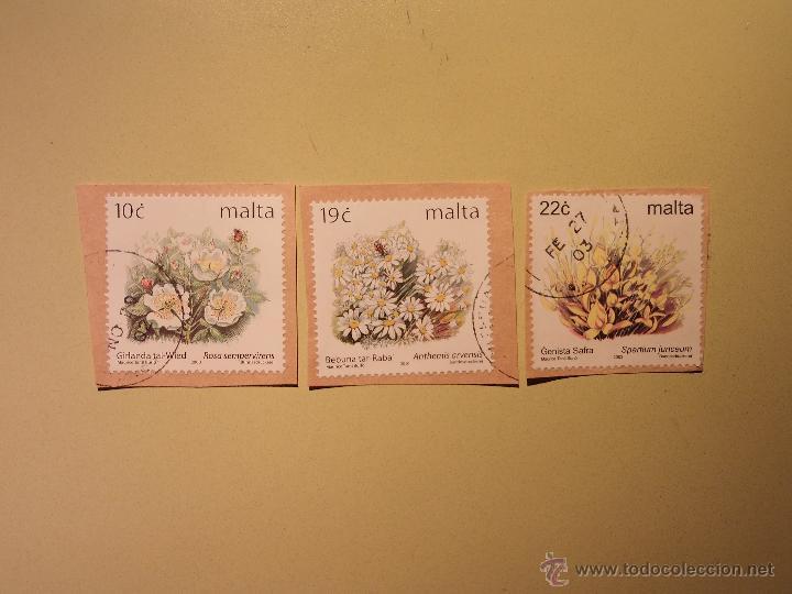 PLANTAS - FLORES - MALTA (Sellos - Extranjero - Europa - Malta)
