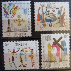 Sellos: MALTA - IVERT 520/23 NUEVOS*** SIN CHARNELA. Lote 43846097