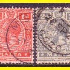 Sellos: MALTA 1913 YVERT Nº 42 A 47 (O). Lote 44210836