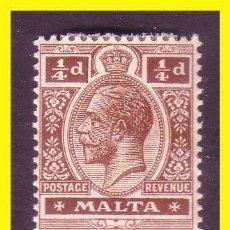 Sellos: MALTA 1921 YVERT Nº 58 Y 59 *. Lote 44210855