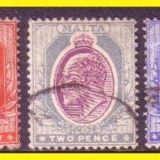 Sellos: MALTA 1903 YVERT Nº 18 A 22 (O). Lote 44211029
