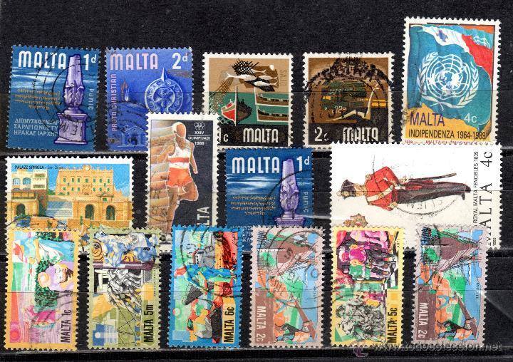 LOTE DE SELLOS USADOS DE MALTA (Sellos - Extranjero - Europa - Malta)