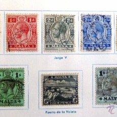 Sellos: SELLOS MALTA 1913-1919. USADOS CON CHARNELA.. Lote 48872920