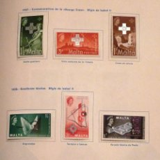 Sellos: SELLOS MALTA 1957-1958. NUEVOS CON CHARNELA.. Lote 48924377