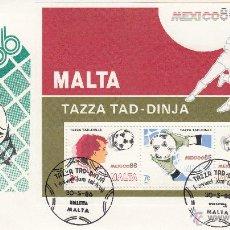 Sellos: SPD MALTA 1986 COPA DEL MUNDO MEXICO 86 -FUTBOL-. Lote 49029945