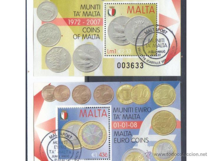 MALTA PAREJA HB EURO 2007 Y 2008 PRIMER DIA (Sellos - Extranjero - Europa - Malta)