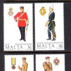 Sellos: MALTA 825/28** - AÑO 1990 - UNIFORMES MILITARES. Lote 50016260