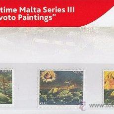Sellos: MALTA 2015 - MARITIME MALTA SERIES III - EX-VOTO PAINTINGS PRESENTATION PACK. Lote 50559258