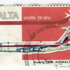 Sellos: MALTA 1974. AVIONES - BOEING 720B. Lote 50581470