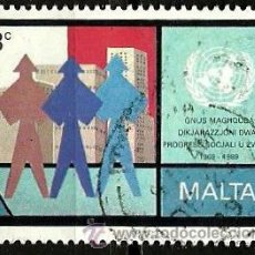 Sellos: MALTA 1989- YV 0801. Lote 53091639