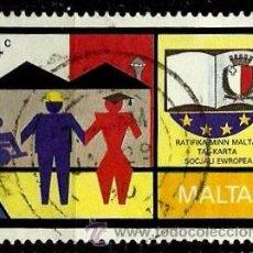 Sellos: MALTA 1989- YV 0802. Lote 53091650