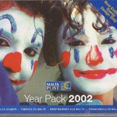 Sellos: MALTA 2002 - YEAR PACK 2002. Lote 53129763