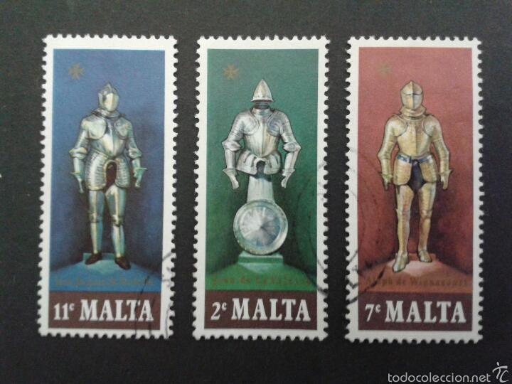 SELLOS DE MALTA. YVERT 537/9. SERIE COMPLETA USADA. (Sellos - Extranjero - Europa - Malta)