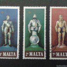 Sellos: SELLOS DE MALTA. YVERT 537/9. SERIE COMPLETA USADA.. Lote 53670134