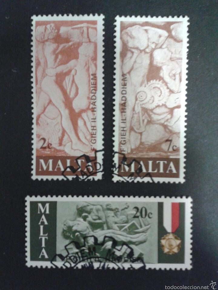 SELLOS DE MALTA. YVERT 551/3. SERIE COMPLETA USADA. (Sellos - Extranjero - Europa - Malta)