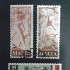 Sellos: SELLOS DE MALTA. YVERT 551/3. SERIE COMPLETA USADA. . Lote 53670166