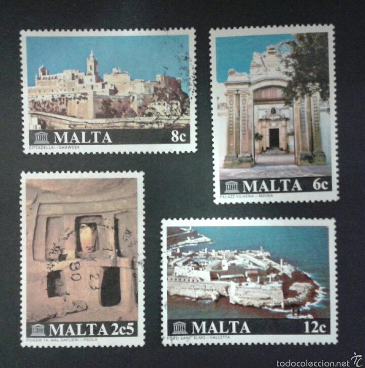 SELLOS DE MALTA. YVERT 598/601. SERIE COMPLETA USADA. (Sellos - Extranjero - Europa - Malta)