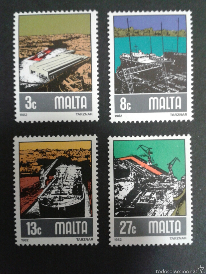 SELLOS DE MALTA. BARCOS. YVERT 643/6. SERIE COMPLETA NUEVA SIN CHARNELA. (Sellos - Extranjero - Europa - Malta)