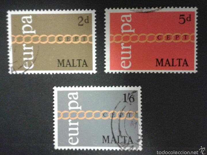 SELLOS DE MALTA. EUROPA CEPT. YVERT 424/6. SERIE COMPLETA USADA. (Sellos - Extranjero - Europa - Malta)
