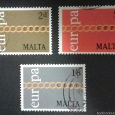 Sellos: SELLOS DE MALTA. EUROPA CEPT. YVERT 424/6. SERIE COMPLETA USADA.. Lote 54152281