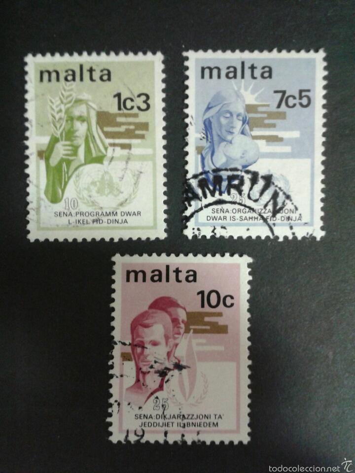 SELLOS DE MALTA. YVERT 477/9. SERIE COMPLETA USADA. (Sellos - Extranjero - Europa - Malta)