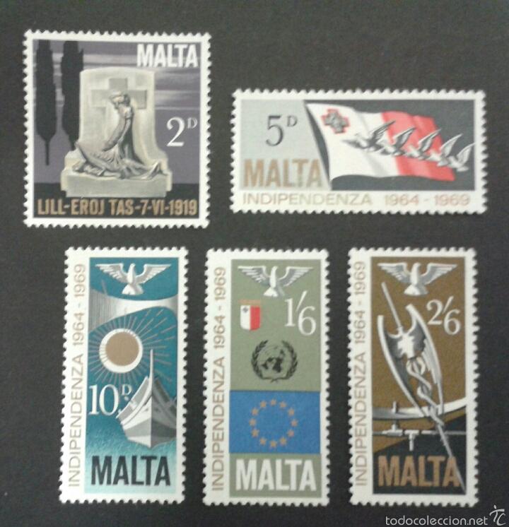 SELLOS DE MALTA. YVERT 395/9. SERIE COMPLETA USADA. (Sellos - Extranjero - Europa - Malta)