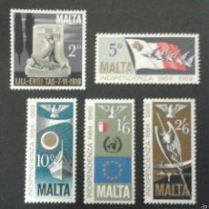 Sellos: SELLOS DE MALTA. YVERT 395/9. SERIE COMPLETA USADA. . Lote 54152340