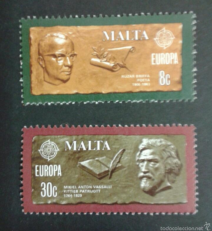 SELLOS DE MALTA. EUROPE CEPT. YVERT 603/4. SERIE COMPLETA NUEVA SIN CHARNELA. (Sellos - Extranjero - Europa - Malta)