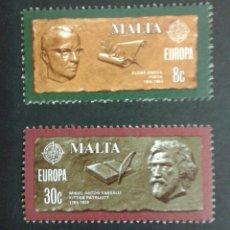 Sellos: SELLOS DE MALTA. EUROPE CEPT. YVERT 603/4. SERIE COMPLETA NUEVA SIN CHARNELA. . Lote 54152358
