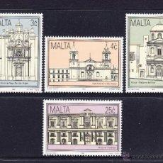 Sellos: MALTA 872/75** - AÑO 1992 - ARQUITECTURA - MONUMENTOS HISTÓRICOS. Lote 191127485