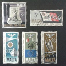 Sellos: SELLOS DE MALTA. YVERT 395/9 SERIE COMPLETA USADA. . Lote 55130089