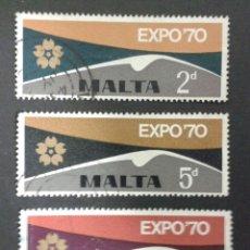 Sellos: SELLOS DE MALTA. YVERT 411/3 SERIE COMPLETA USADA.. Lote 55130103