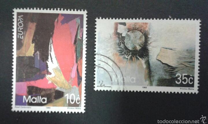 SELLOS DE MALTA. YVERT 883/4. EUROPA CEPT. SERIE COMPLETA USADA. (Sellos - Extranjero - Europa - Malta)