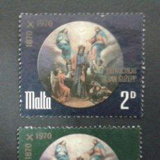 Sellos: SELLOS DE MALTA. YVERT 427/8. SERIE COMPLETA USADA.. Lote 55130203
