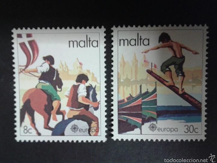 SELLOS DE MALTA. EUROPA CEPT. YVERT 616/7. SERIE COMPLETA NUEVA SIN CHARNELA. (Sellos - Extranjero - Europa - Malta)
